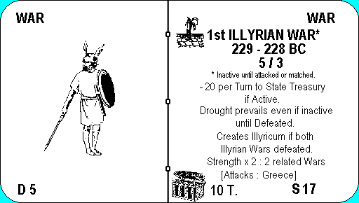 Illyrian war card